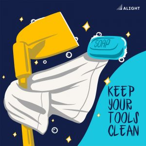 10 Keep your tools Clean